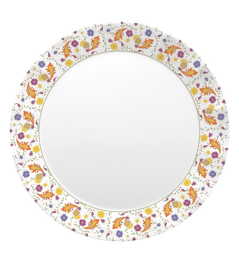 Click to Zoom In/Out  sc 1 st  Pepperfry & Servewell Gardenia Dora Melamine Dinner Plates - Set of 6 by ...