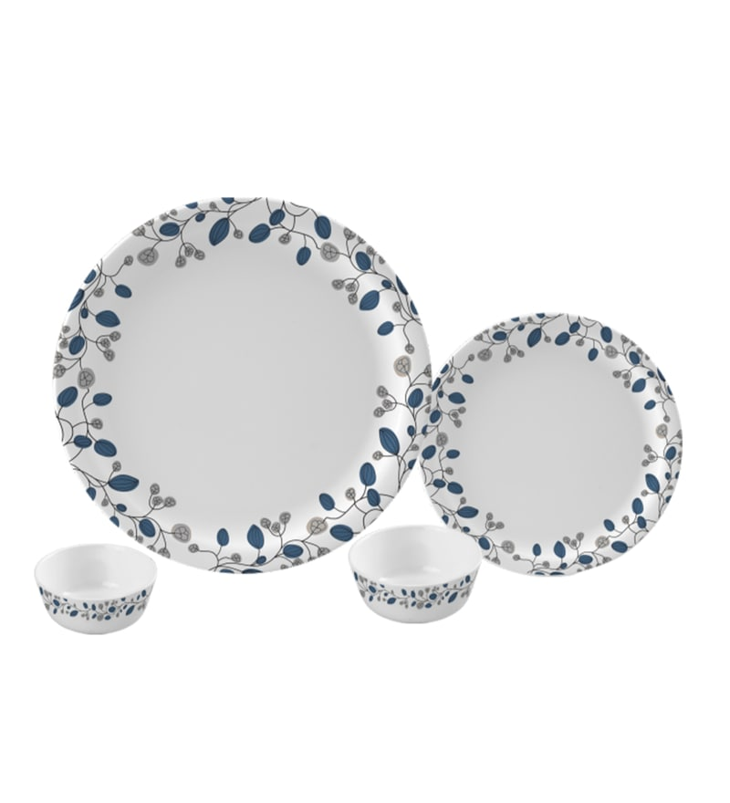 Blue Decor Melamine Round Dinner Set - Set of 29 by Servewell