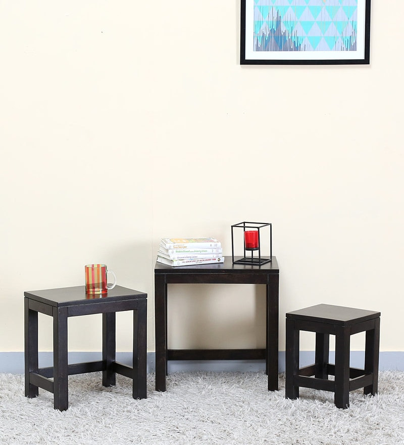 Oriel Set of Tables in Warm Chestnut Finish by Woodsworth