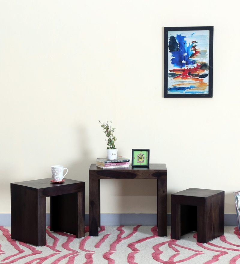 Acropolis Set Of Tables in Warm Chestnut Finish by Woodsworth