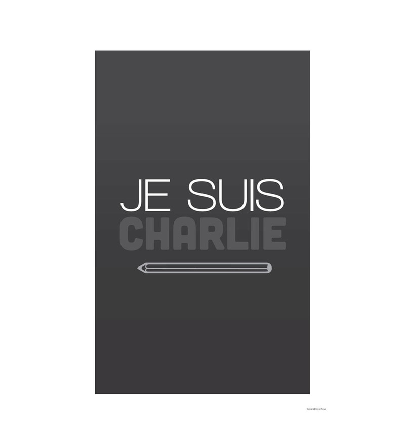 Paper 12 x 1 x 18 Inch Je Suis Charlie Unframed Poster by Seven Rays