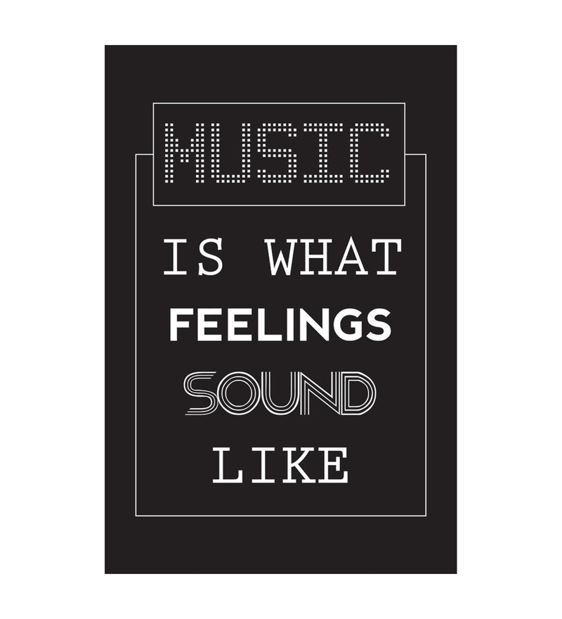 Paper 12 x 1 x 18 Inch Music Is What Feelings Sound Like. Unframed Poster by Seven Rays