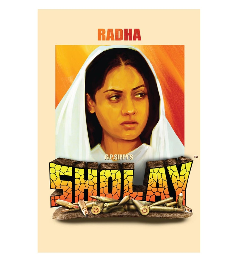 Paper 12 x 18 Inch Sholay Radha Unframed Bollywood Poster by Seven Rays