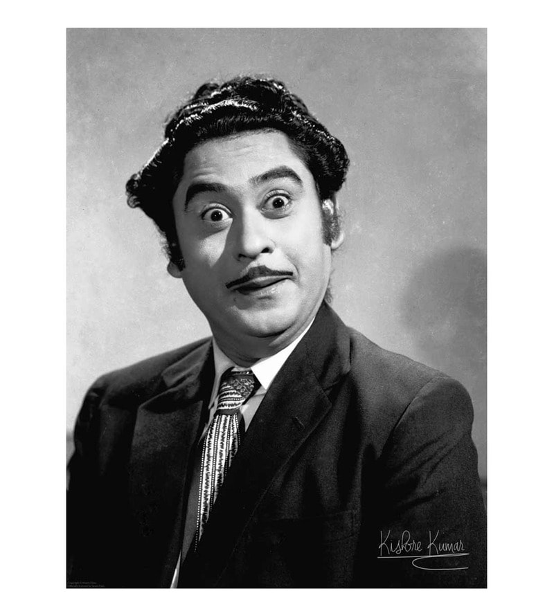 Paper 18 x 24 Inch Kishore Kumar Naughty Boy Unframed Bollywood Poster by Seven Rays