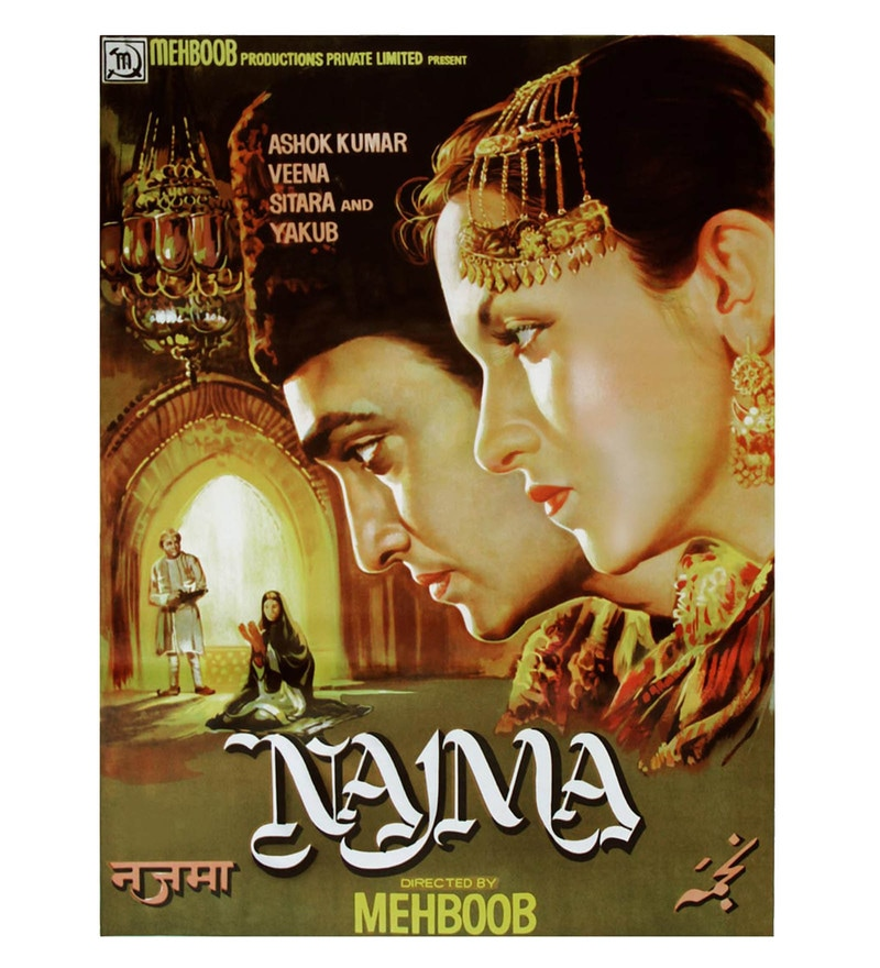 Paper 18 x 24 Inch Najma Unframed Bollywood Poster by Seven Rays