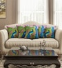 Multicolour Cotton 16 x 16 Inch Abstract Cushion Covers - Set of 5 by SEJ By Nisha Gupta