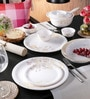 Petals Melamine Round Dinner Set - Set of 29 by Servewell