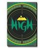 Green MDF Aim High! Fridge Magnet by Seven Rays