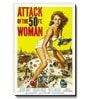 Seven Rays Multicolour MDF Attack on The 50Ft Woman! Fridge Magnet