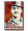 Seven Rays Red MDF Bhagat Singh Long Live The Revolution Fridge Magnet