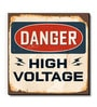 Multicolour MDF Danger High Voltage Fridge Magnet by Seven Rays
