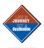 Multicolour MDF Life Is A Journey! Fridge Magnet by Seven Rays