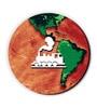 Green & Orange MDF Train Around The Globe Fridge Magnet by Seven Rays