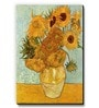 Yellow MDF Vase with Twelve Sunflowers Fridge Magnet by Seven Rays
