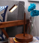 Brown LED Table Lamp