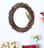Brown Mango Wood Mirror