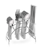 Shapes  Gracia (Dk) Stainless Steel Spoons and Forks 25-piece Cutlery Set With Stand