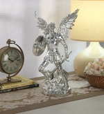 Silver Resin with Silver Plating Archangel Figurine