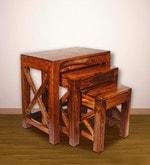 Sheesham Wood Cross Set of Tables