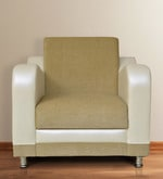 Shelby One Seater Sofa in Beige Colour