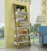 Shiori Display Unit cum Book Shelf in Oak & White Finish