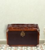 Shoe Trunk in Brown Genuine Leather