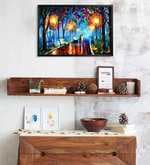 MDF 19 x 13 Inch Oil Canvas Painting Laminated Canvas Framed Poster
