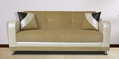 Shelby Three Seater Sofa in Beige Colour