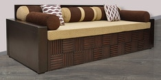 Shine Sofa Cum Bed in Brown Colour
