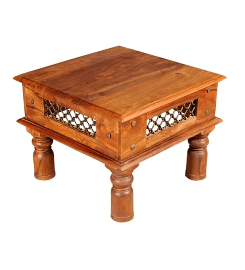 Sheesham Wood Jali Design Coffee Table By Mudramark Online