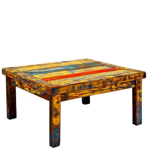 Buy Shabby Chic Coffee Table In Multi Colour By Asian Arts Online