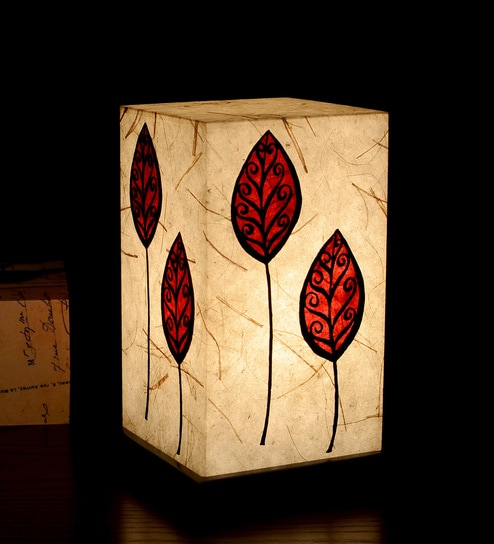 Buy red white acrylic handmade paper table lamp by shady ideas red white acrylic handmade paper table lamp by shady ideas mozeypictures Images