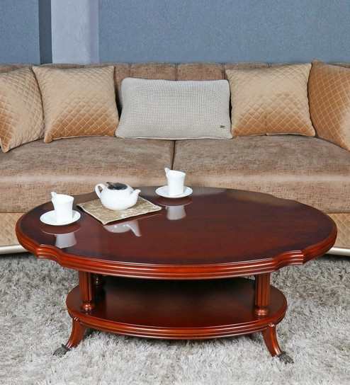 Sherman Solid Wood Oval Coffee Table By Gianis Global