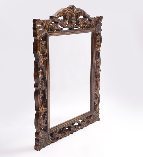 Buy Shilpi Brown Wooden Symmetrical Photo Frame Online - Single ...
