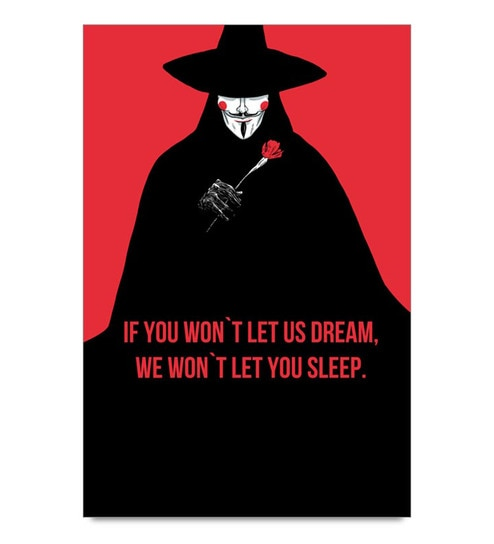 Paper 13 x 19 Inch Anonymous Quote Unframed Laminated Poster by Shop Mantra