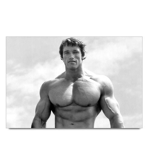 Paper 19 x 13 Inch Arnold Schwarzenegger Vintage Pose Unframed Laminated Poster by Shop Mantra