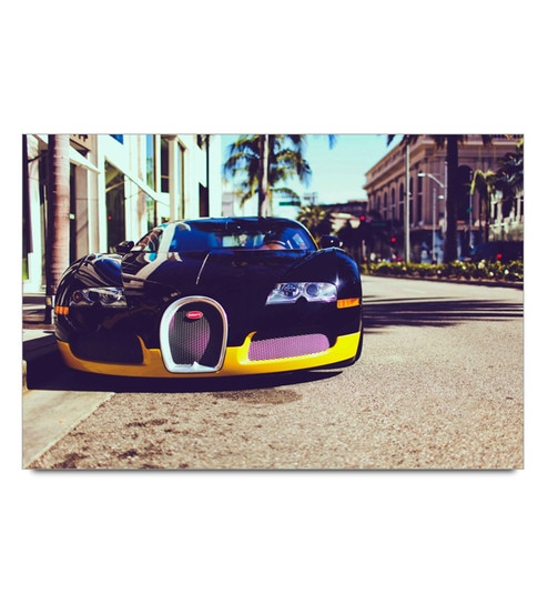 Paper 19 x 13 Inch Black Awesome Bugatti Unframed Laminated Poster by Shop Mantra