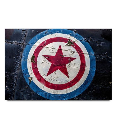 Paper 19 x 13 Inch Captain America Shield Print Unframed Laminated Poster by Shop Mantra
