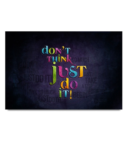 Paper 19 x 13 Inch Don't Think Just Do It Unframed Laminated Poster by Shop Mantra