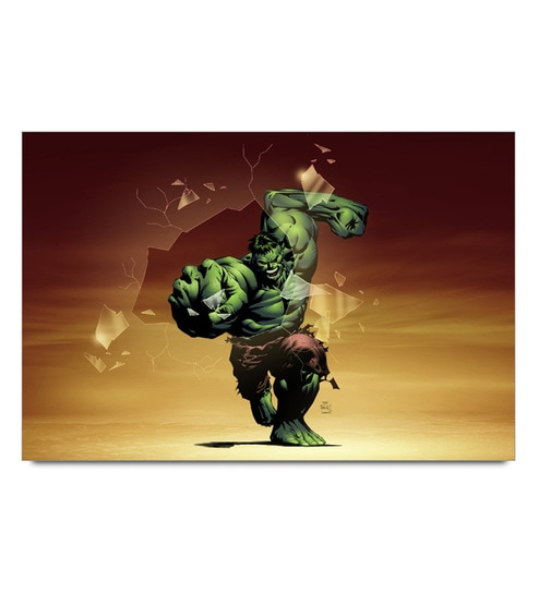 Paper 19 x 13 Inch Hulk Smashing Unframed Laminated Poster by Shop Mantra