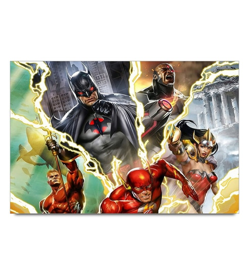 Paper 19 x 13 Inch Justice League Art Unframed Laminated Poster by Shop Mantra
