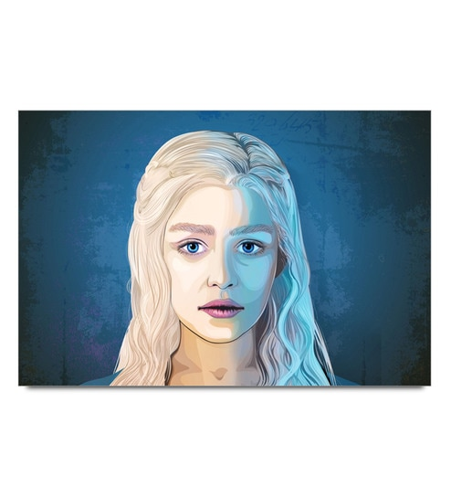 Paper 19 x 13 Inch Khaleesi Painting Portrait Unframed Laminated Poster by Shop Mantra