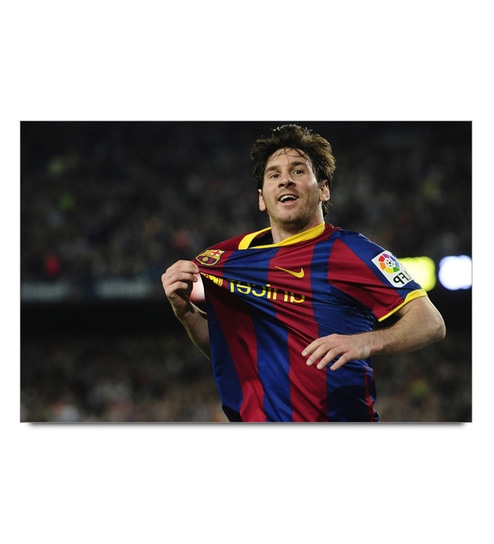 Paper 19 x 13 Inch Messi Barcelona Legends Unframed Laminated Poster by Shop Mantra