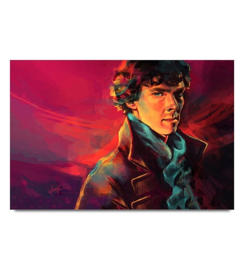 Paper 19 x 13 Inch Sherlock Holmes Painting Art Unframed Laminated Poster by Shop Mantra