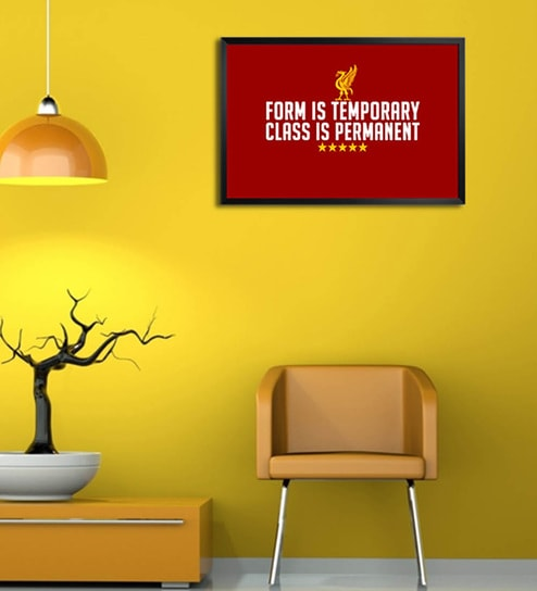 Wooden 19 x 1 x 13 Inch Liverpool Fc Class Is Permanent Framed Poster by Shop Mantra