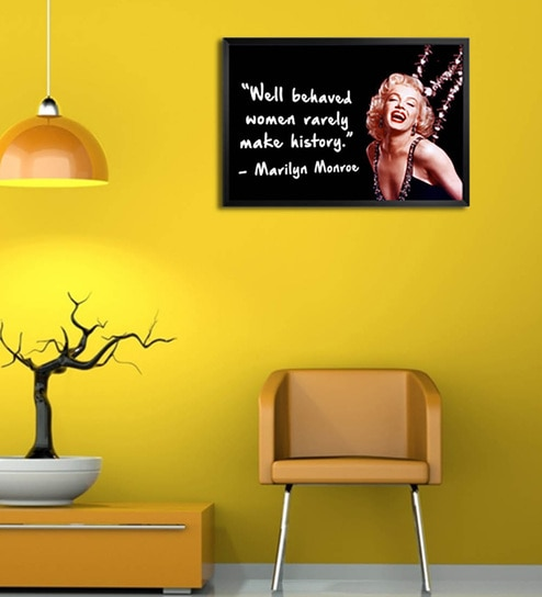 Buy Shop Mantra Wooden 19 x 1 x 13 Inch Marilyn Monroe Quote Framed ...