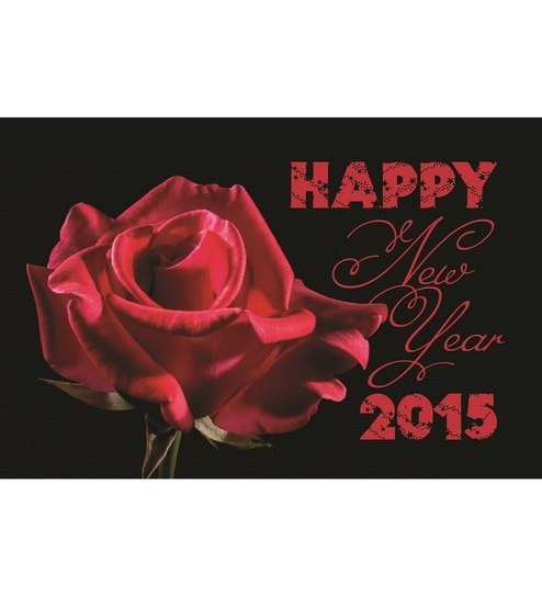 shopisky happy new year woth red rose love poster