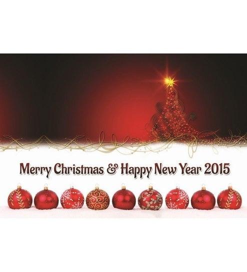 Shopisky Sparkling Christmas Tree And Decorative Balls Wall Sticker