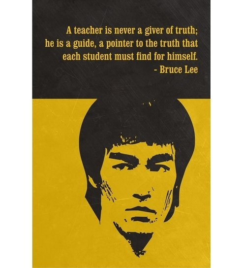 shopisky motivational quote by bruce lee poster yellow