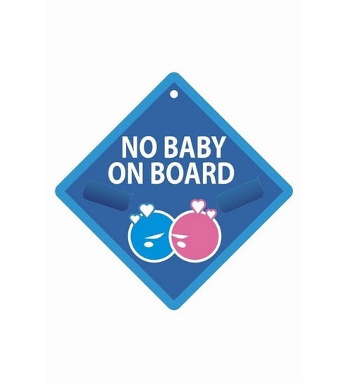 shopisky no baby on board bumper sticker